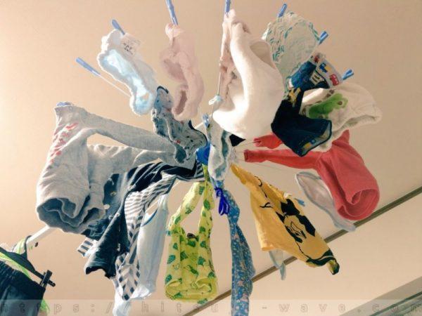 保育園児の洗濯物